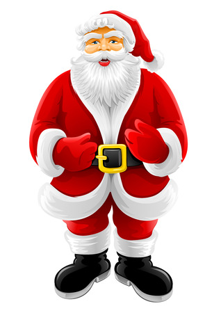 Christmas Santa Claus vector illustration isolated on white background Vector