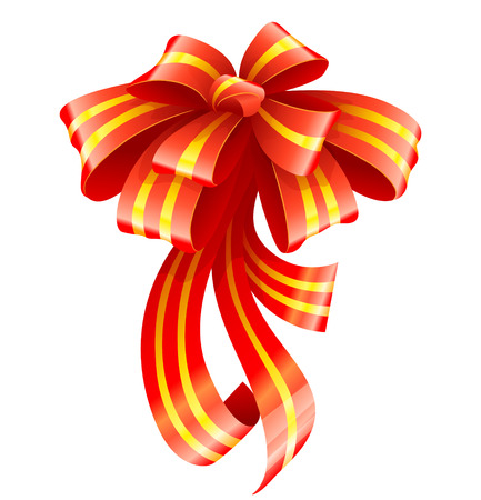 Red ribbon for christmas gift decoration vector illustration Stock Vector - 3916486