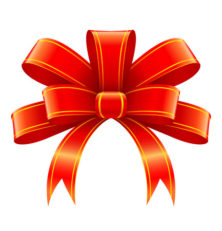 Red ribbon for christmas gift decoration vector illustration Stock Vector - 3916478