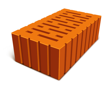 brick for house construction isolated - vector illustration