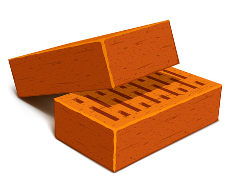isolated bricks for house construction - vector illustration