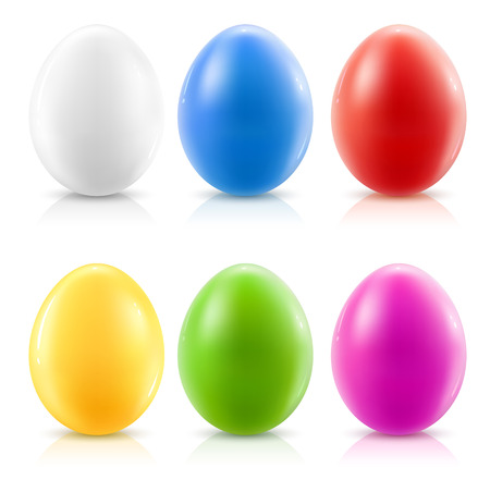 set of color easter eggs - vector illustration Vector