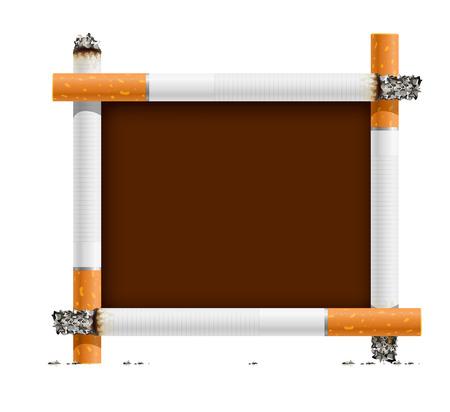 smouldering cigarette: blank sign, made of cigarettes - no smoking - vector illustration