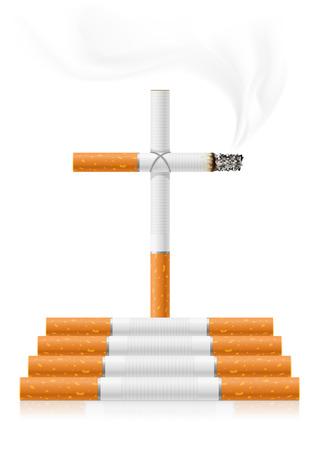 pernicious: concepto dejar de fumar - el peligro de los cigarrillos - ilustraci�n vectorial