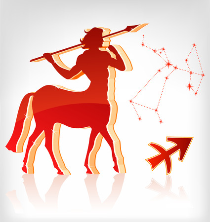 Shooter zodiac astrology icon for horoscope - vector illustration Vector