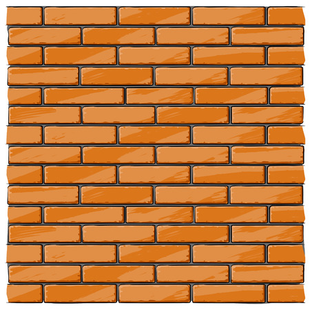 brick wall house background - vector illustration Vector