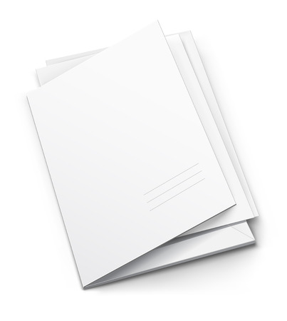 dossier: white folder with blank titular cover - illustration Illustration