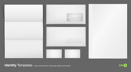 specimen: set of corporate identity templates  Illustration