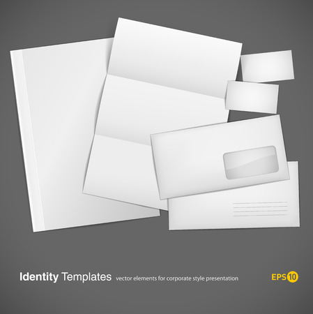 workpiece: set of corporate identity templates  Illustration