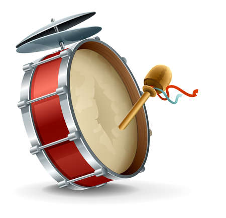 drums: bass drum instrument Illustration