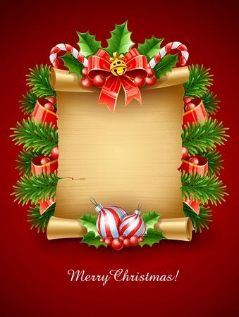 campanas de navidad: navidad, vacaciones, saludos secuencia de comandos con la ilustración de la decoración de vectores