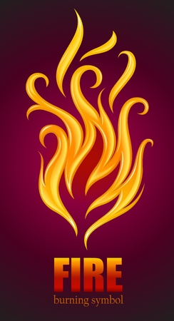 burning flame of fire vector illustration Stock Vector - 11664041