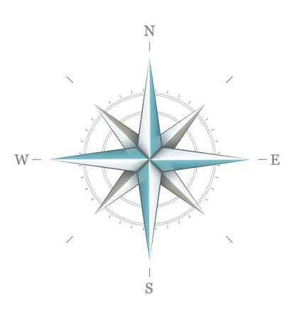 compass rose: Antique wind rose symbol for navigation isolated on white background. Transparent objects used for shadows and lights drawing.