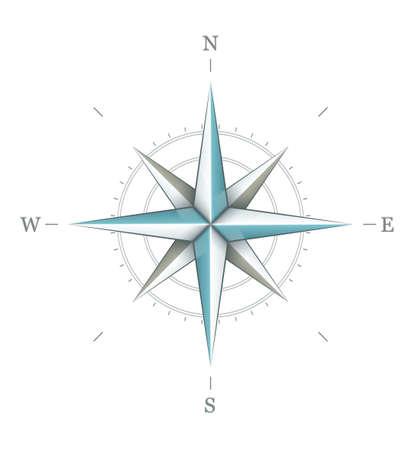 kompassrose: Antique Windrose Symbol f�r die Navigation auf wei�em Hintergrund. Transparente Objekte f�r Schatten und Lichter Zeichnung verwendet.