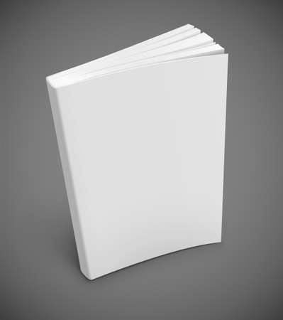library book: blank book cover illustration gradient mesh used . Transparent objects used for shadows and lights drawing. Illustration