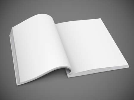 open diary: open spread of book with blank white pages vector illustration gradient mesh used EPS10. Transparent objects used for shadows and lights drawing.