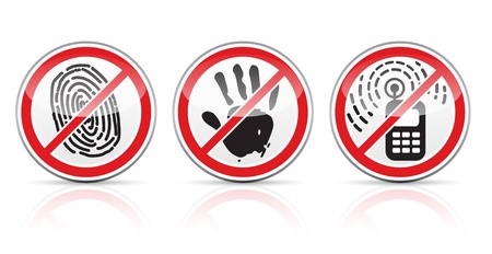restrictive: set of restrictive signs icons vector illustration isolated on white background EPS10. Transparent objects used for shadows and lights drawing. Illustration
