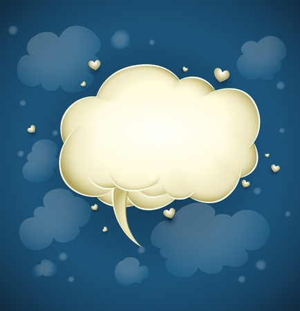festal: cloud with greeting message for valentines day illustration