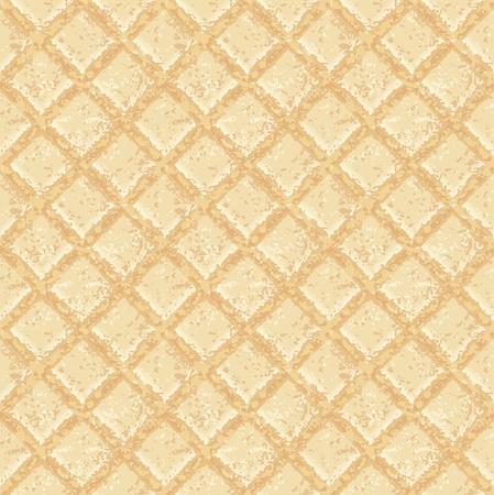 crisp: Crisp waffles pattern seamless texture - EPS 10 vector illustration