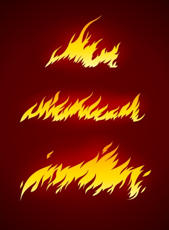 burning flame of fire vector silhouette