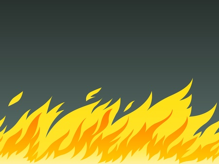 conflagration: horizontal seamless pattern of burning fire