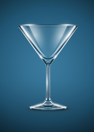 martini: glass goblet for martini cocktails vector illustration EPS10. Transparent objects used for shadows and lights drawing. Illustration