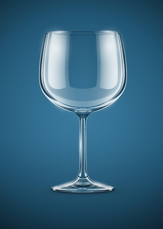 goblet: glass goblet for wine vector illustration EPS10. Transparent objects used for shadows and lights drawing.