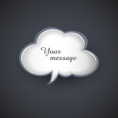 workpiece: cloud template for text message