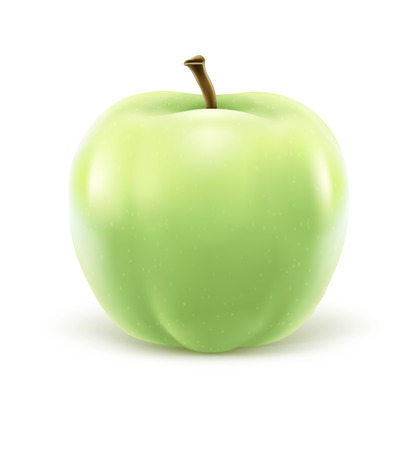 greeen: Greeen apple isolated on white