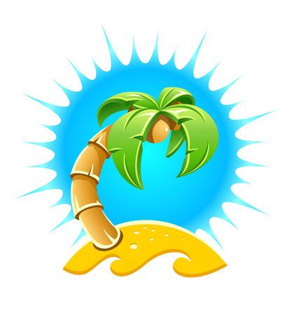 sand beach: Island with palm and sand beach.