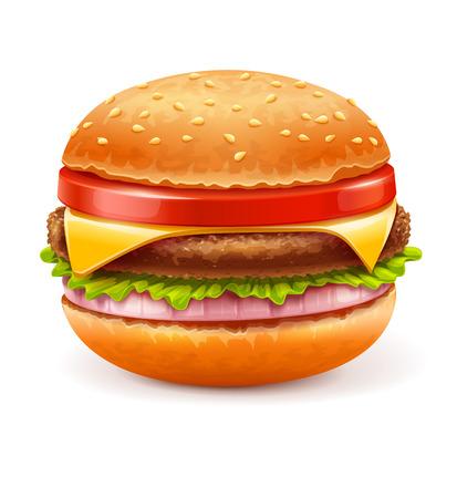 eps10 vector: Hamburger isolated on white background. Eps10 vector illustration. Isolated on white background Illustration