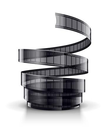 cinematograph: Espiral de cinta de pel�cula cinematogr�fica.