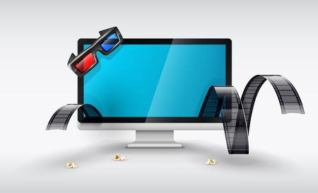 representation: Multimedia display for online watching films.