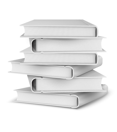 pile of papers: Big pile of books. Eps10 vector illustration. Isolated on white background