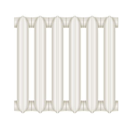coldness: Cast-iron radiator for heating systems. Eps10 vector illustration. Isolated on white background Illustration