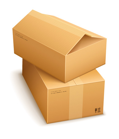 bundle: Cardboard boxes for mail delivery.