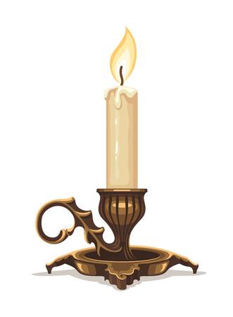 candela: Masterizzazione di candela in bronzo candeliere.