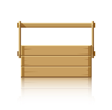packaging equipment: Wooden box for tools.