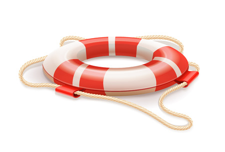 drowning: Life buoy for drowning rescue. Eps10 vector illustration. Isolated on white background