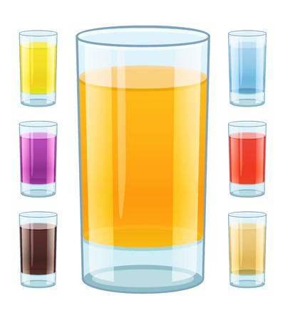 fruity: Glass with fresh fruity juice.