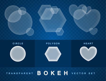 pellucid: Set of transparent bokeh forms effect.  Illustration