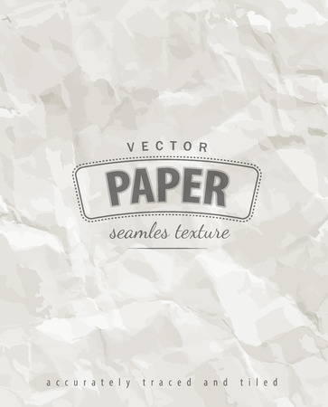 loopable: Rumpled paper seamless texture. Eps10 vector illustration