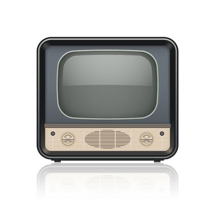 cinematograph: Vintage conjunto de iconos de tv retro. Ilustraci�n vectorial Eps10. Aislado en el fondo blanco Vectores