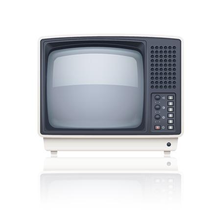 tv set: Old style retro tv set icon. Eps10 vector illustration. Isolated on white background Illustration