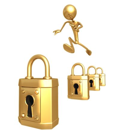 idioms: Security Hurdles Stock Photo