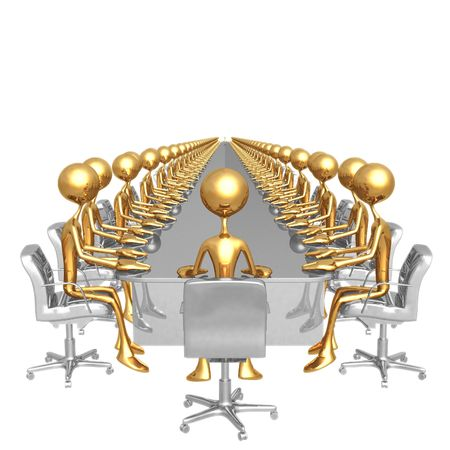 company board: Endless Meeting Stock Photo