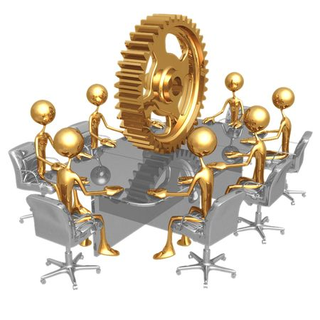 manpower: Labor Meeting Stock Photo