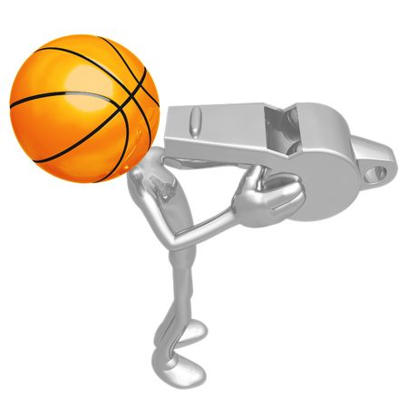 whistling: Basketball Whistle Stock Photo