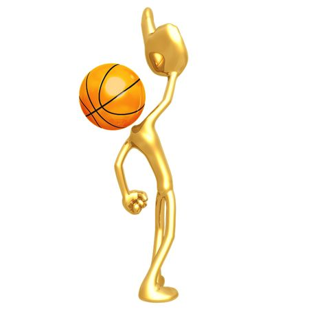 1 place: Number One Basketball Stock Photo
