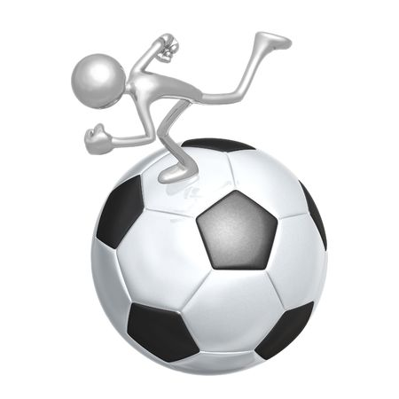 Soccer Football Runner Stock Photo - 4355601